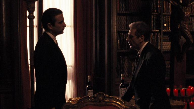 Andy Garcia and Al Pacino in The Godfather Part III