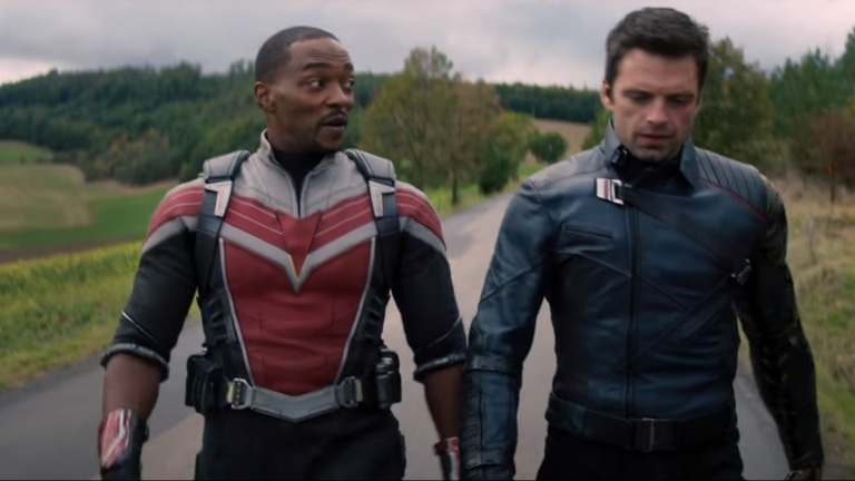 Anthony Mackie and Sebastian Stan in Marvel's The Falcon and the Winter Soldier