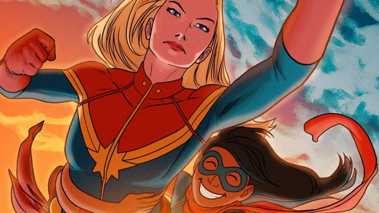 Carol Danvers and Kamala Khan in Captain Marvel 2