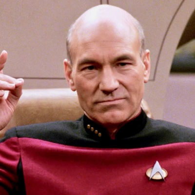 """Captain Picard About to """"Engage"""" in Star Trek: The Next Generation"""