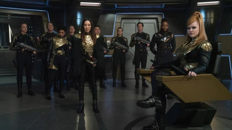 The Mirror Universe Discovery Crew in Star Trek: Discovery Season 3 Episode 10