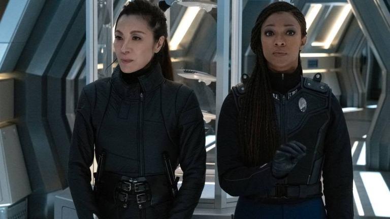 Georgiou and Michael in Star Trek: Discovery Season 3 Episode 9