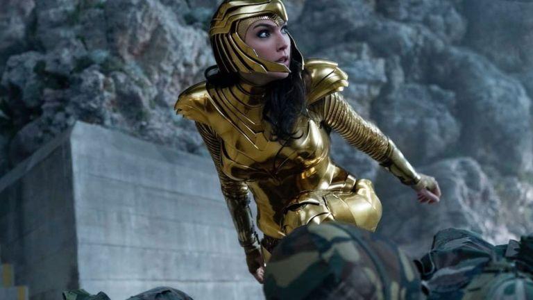 Gal Gadot in Diana's Golden Armor in Wonder Woman 1984