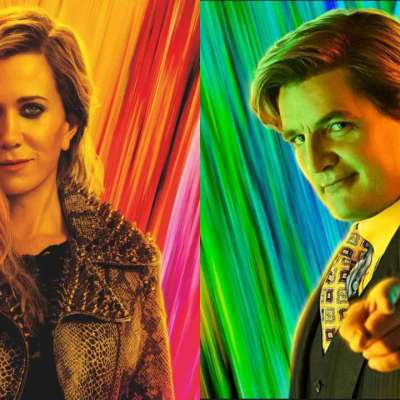Kristen Wiig as Cheetah and Pedro Pascal as Max Lord in Wonder Woman 1984