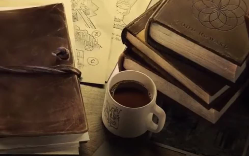 Coffee mug in Bethesda's Indiana Jones Game
