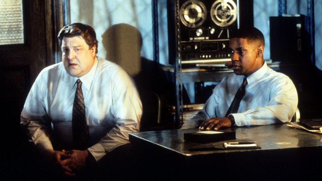 John Goodman and Denzel Washington in Fallen