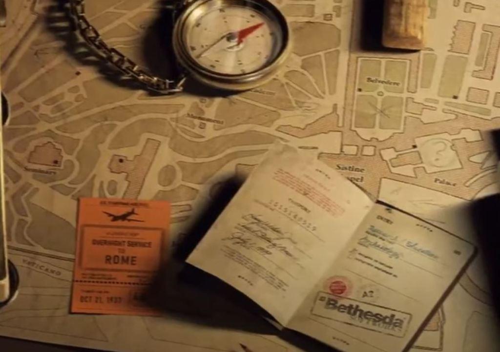 Plane ticket in Bethesda's Indiana Jones Game
