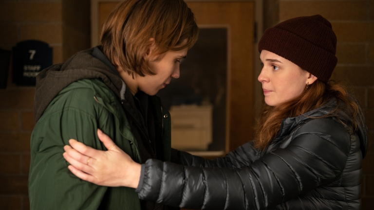 Owen Teague and Odessa Young in The Stand