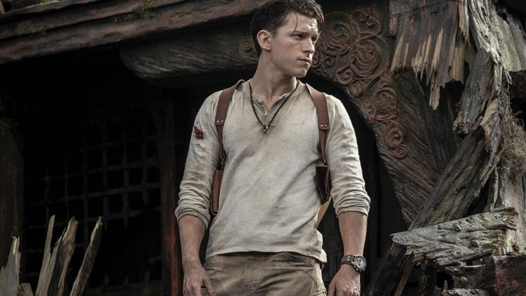 Tom Holland as Nathan Drake in Uncharted