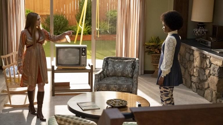 Elizabeth Olsen and Teyonah Parris in episode 3 of WandaVision