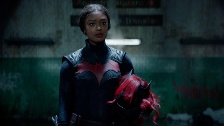 Javicia Leslie dressed in the Batwoman suit
