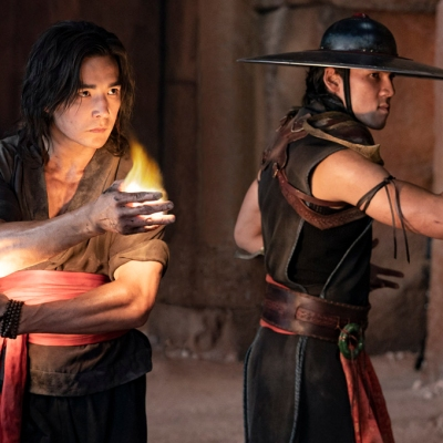 Ludi Lin as Liu Kang and Max Huang as Kung Lao in Mortal Kombat
