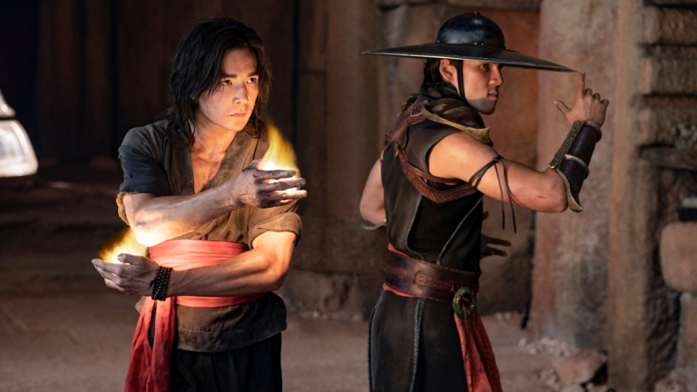 Ludi Lin as Liu Kang and Max Huang as Kung Lao in Mortal Kombat