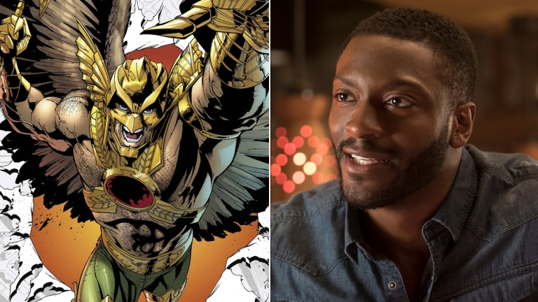 Savage Hawkman #0 cover; Aldis Hodge in What Men Want