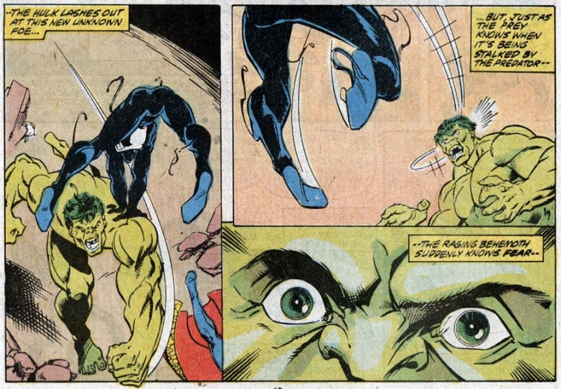 Symbiote Spider-Man attacks the Hulk