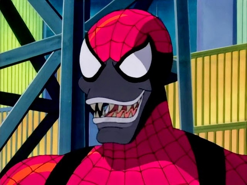 Spider-Carnage from the Spider-Man animated series