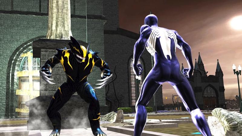 Symbiote Wolverine vs. Symbiote Spider-Man in Spider-Man: Web of Shadows