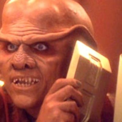 Quark Holds Up Gold in Star Trek: Deep Space Nine