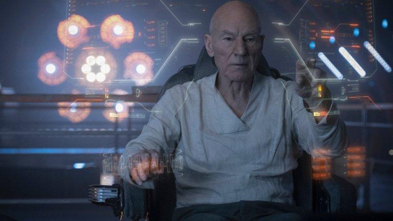 Jean-Luc Picard at the helm in Star Trek: Picard Season 1