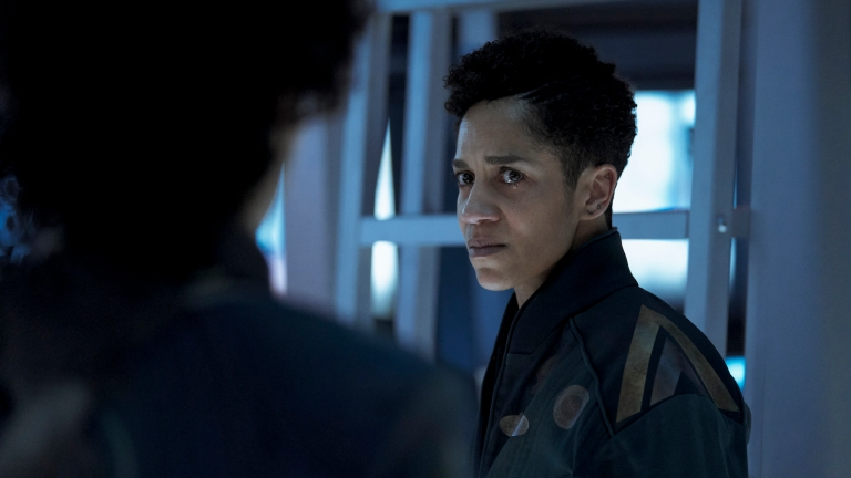 Naomi crying in The Expanse