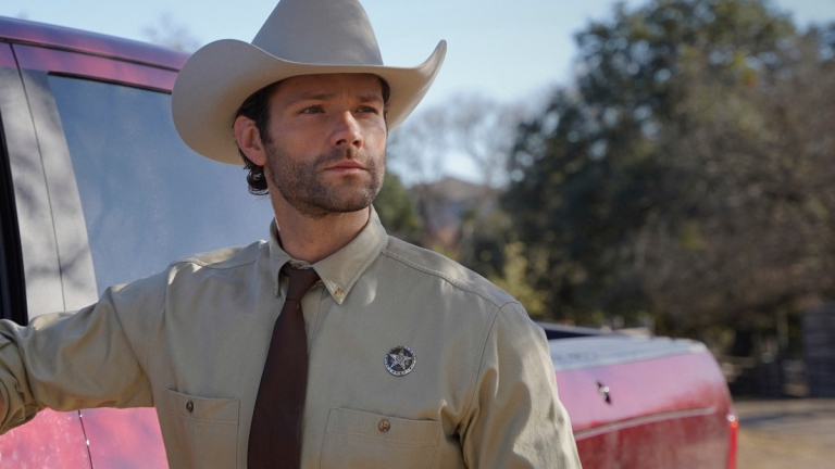 Jared Padalecki's Cordell Walker Stands By His Truck in the Walker Pilot
