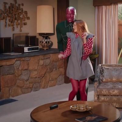 Paul Bettany and Elizabeth Olsen in WandaVision