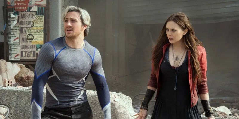 Quicksilver and Scarlet Witch in Avengers: Age of Ultron