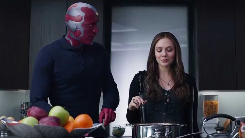 Vision and Scarlet Witch in Captain America: Civil War