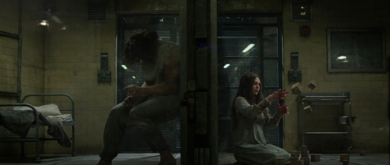 Quicksilver and Scarlet Witch in the Captain America: The Winter Soldier mid-credits scene