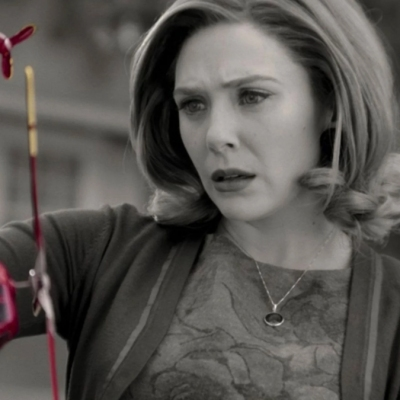 Wanda Maximoff notices a suspicious toy helicopter