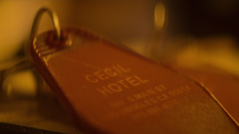Room key at the Cecil Hotel