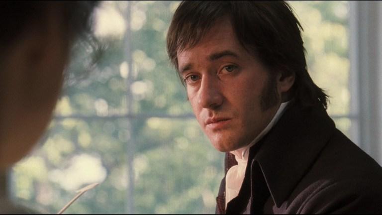 Matthew MacFadyen as Mr Darcy in Pride and Prejudice