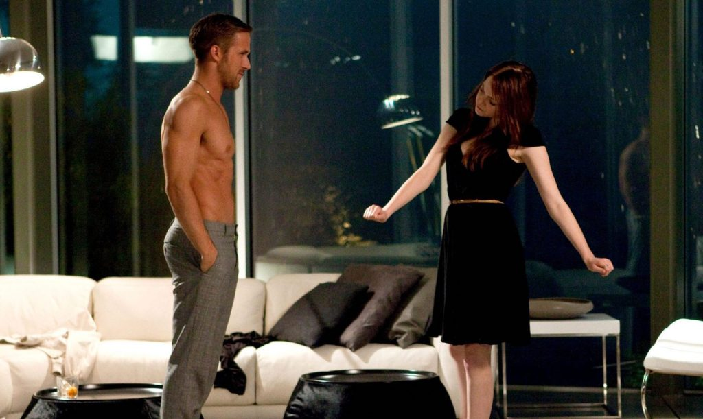 Ryan Gosling and Emma Stone in Crazy, Stupid, Love