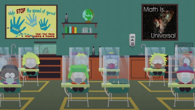 A Classroom in the South Park Pandemic Special