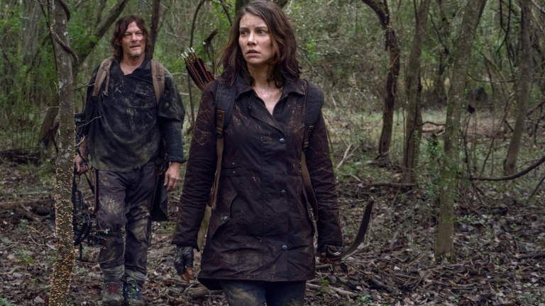 Daryl and Maggie in The Walking Dead season 10 episode 17