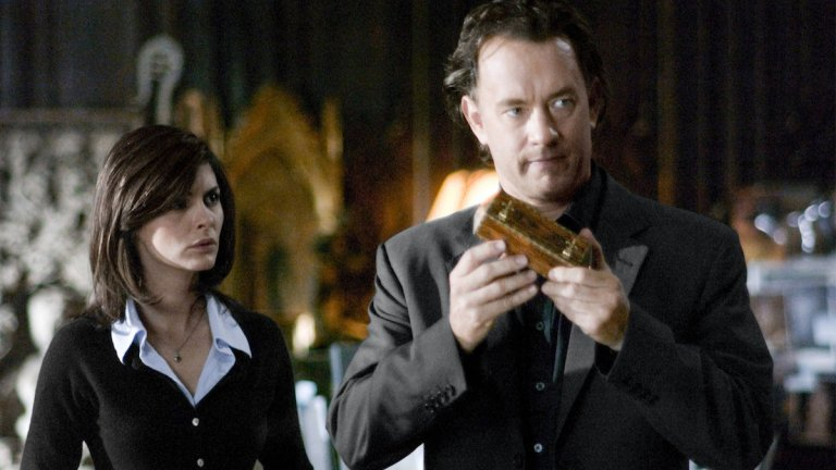 Tom Hanks and Audrey Tautou in The Da Vinci Code