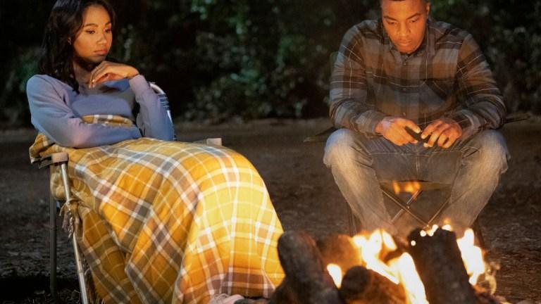Greta Onieogou as Layla and Daniel Ezra as Spencer in All American Season 3