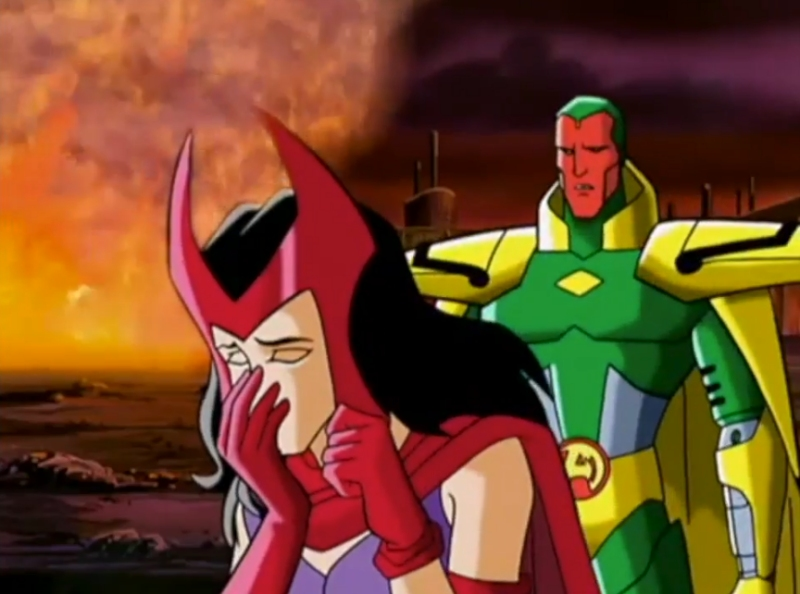 Scarlet Witch and Vision from Avengers: United They Stand