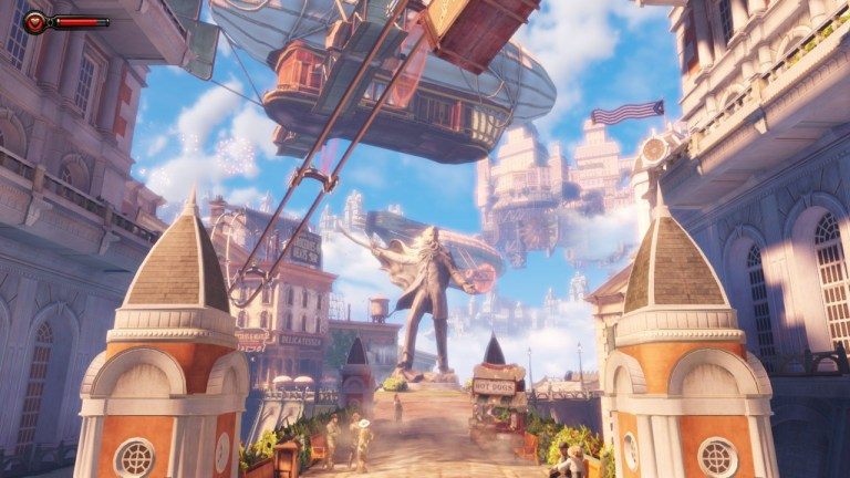 The floating city of Columbia in Bioshock Infinite