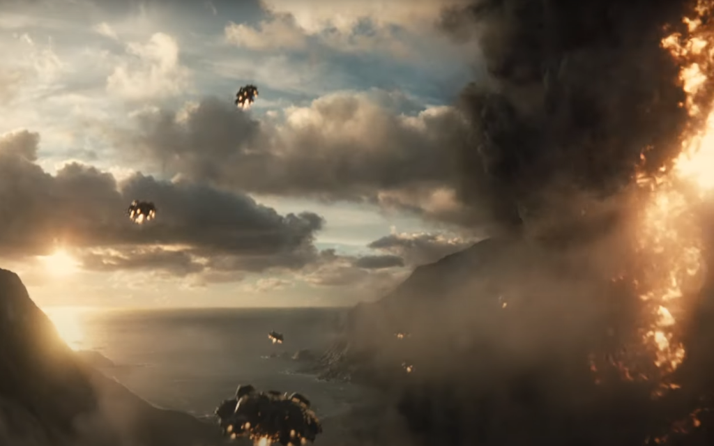 The Apokolips spaceships in Zack Snyder's Justice League