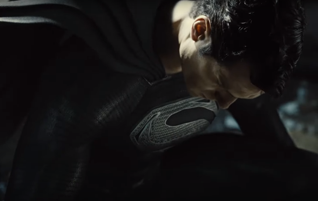 Henry Cavill in the black Superman suit in Zack Snyder's Justice League