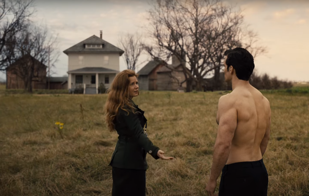 Amy Adams as Lois Lane and Henry Cavill as Clark Kent in Zack Snyder's Justice League