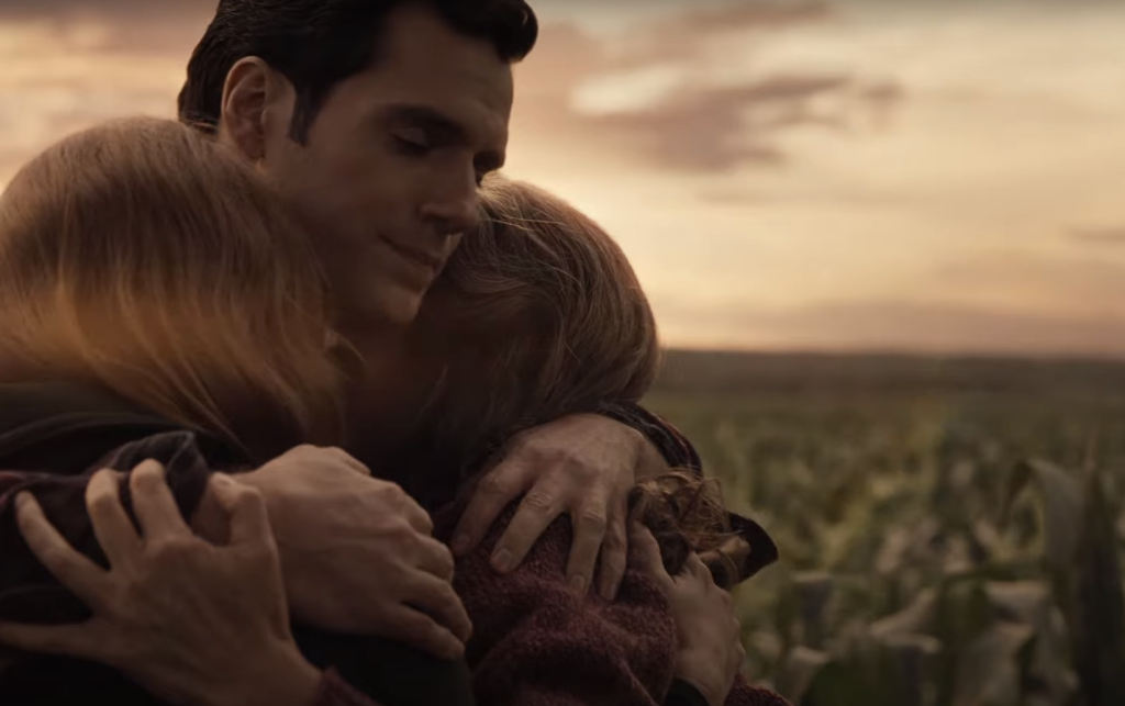 Henry Cavill as Clark Kent, Amy Adams as Lois Lane, and Diane Lane as Martha Kent in Zack Snyder's Justice League