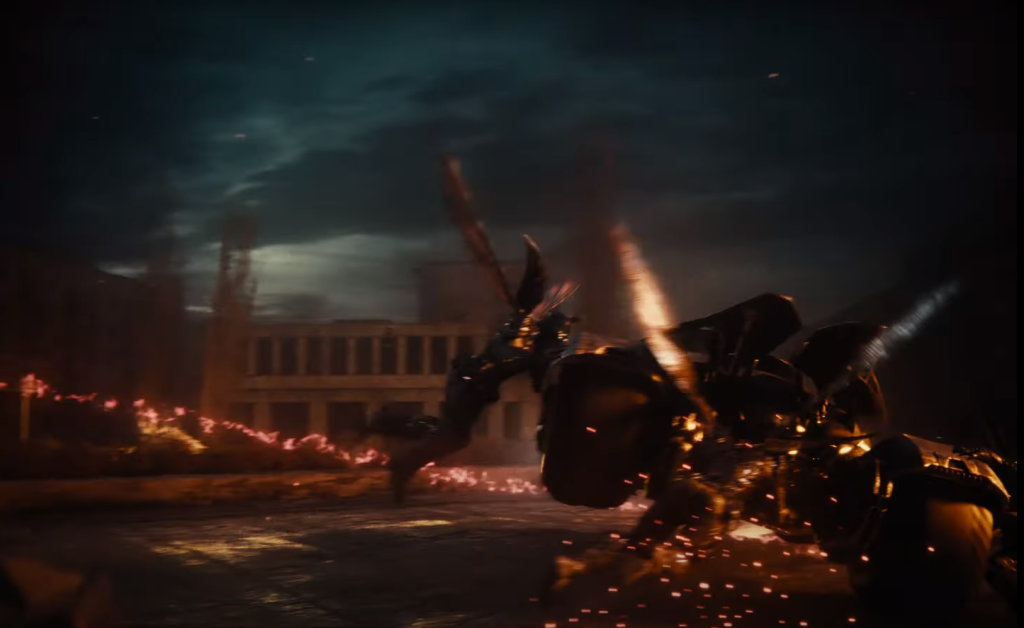Parademons attack the Batmobile in Zack Snyder's Justice League