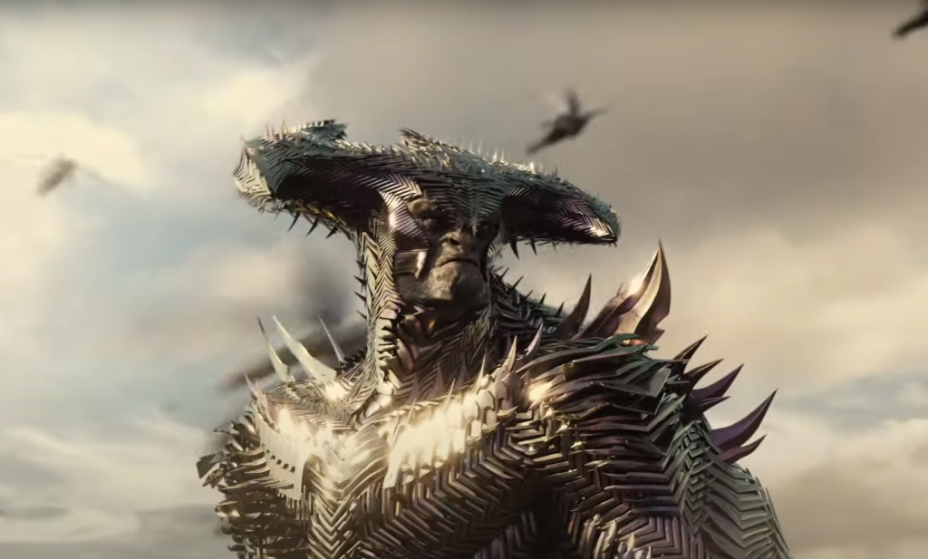 Steppenwolf armored in Zack Snyder's Justice League