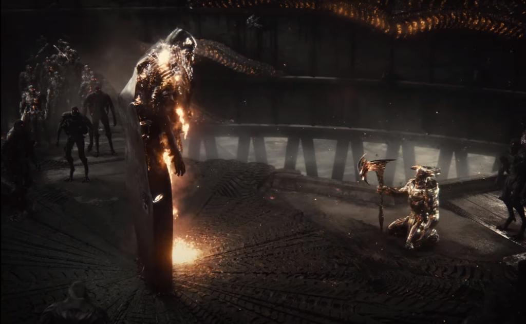 Steppenwolf kneels in Zack Snyder's Justice League