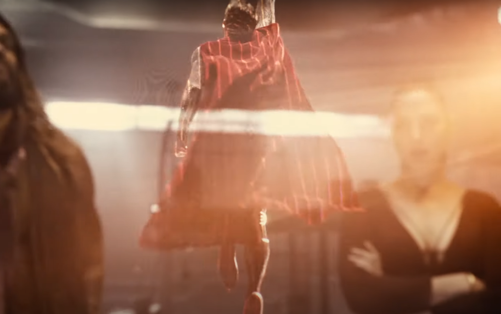 the Superman hologram in Zack Snyder's Justice League