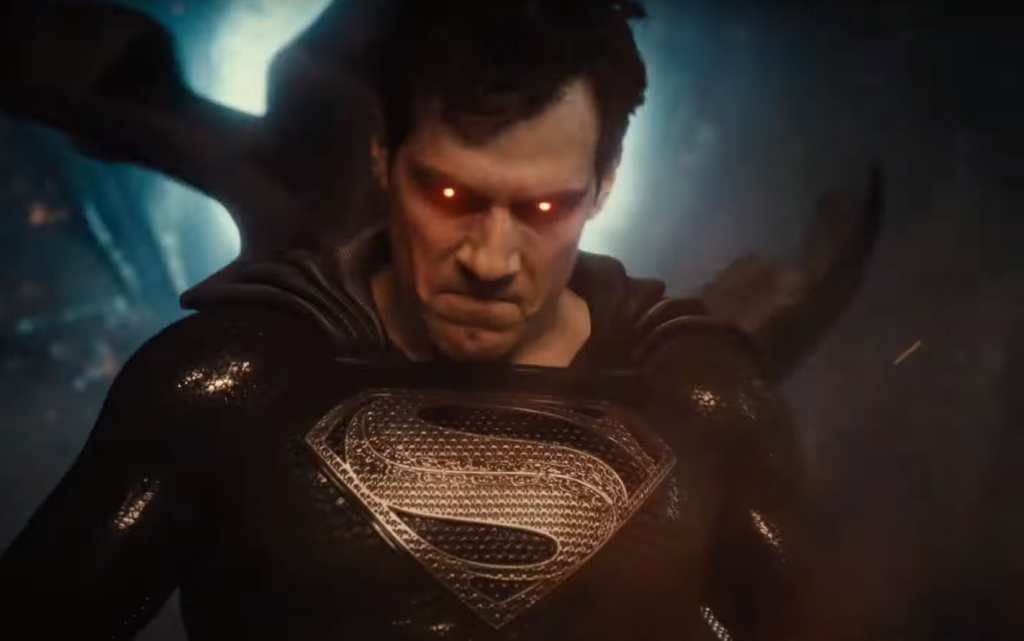 Henry Cavill as Superman with heat vision eyes in Zack Snyder's Justice League