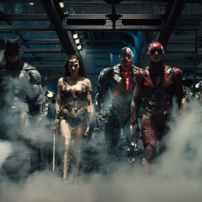 Batman, Wonder Woman, Cyborg, Flash, and Aquaman in Zack Snyder's Justice League