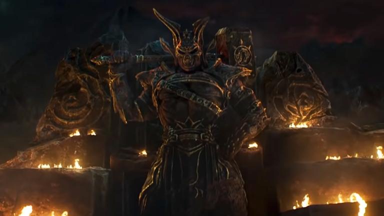 Shao Kahn statue in Mortal Kombat